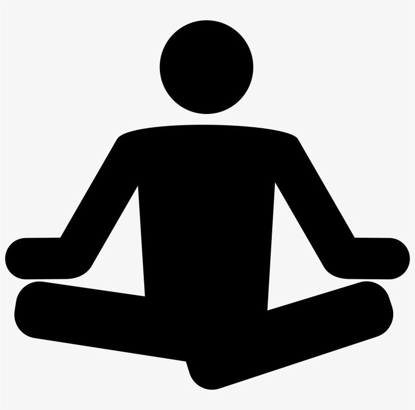 Black and white free clipart meditation banner free Free Yoga Clipart - Meditation Clipart Black And White - Free ... banner free