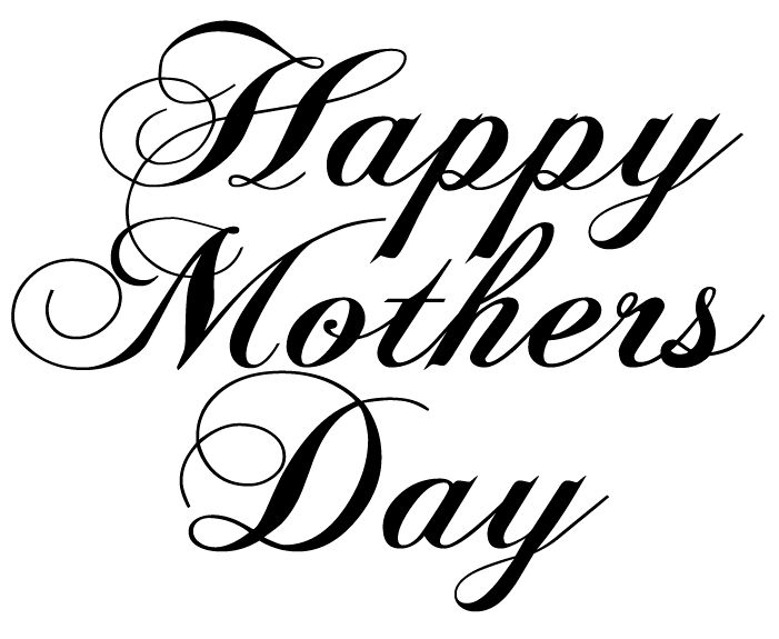 Black and white free clipart mothers day transparent stock Happy Mothers Day Clipart Black And White Www.pixshark - Free Clipart transparent stock