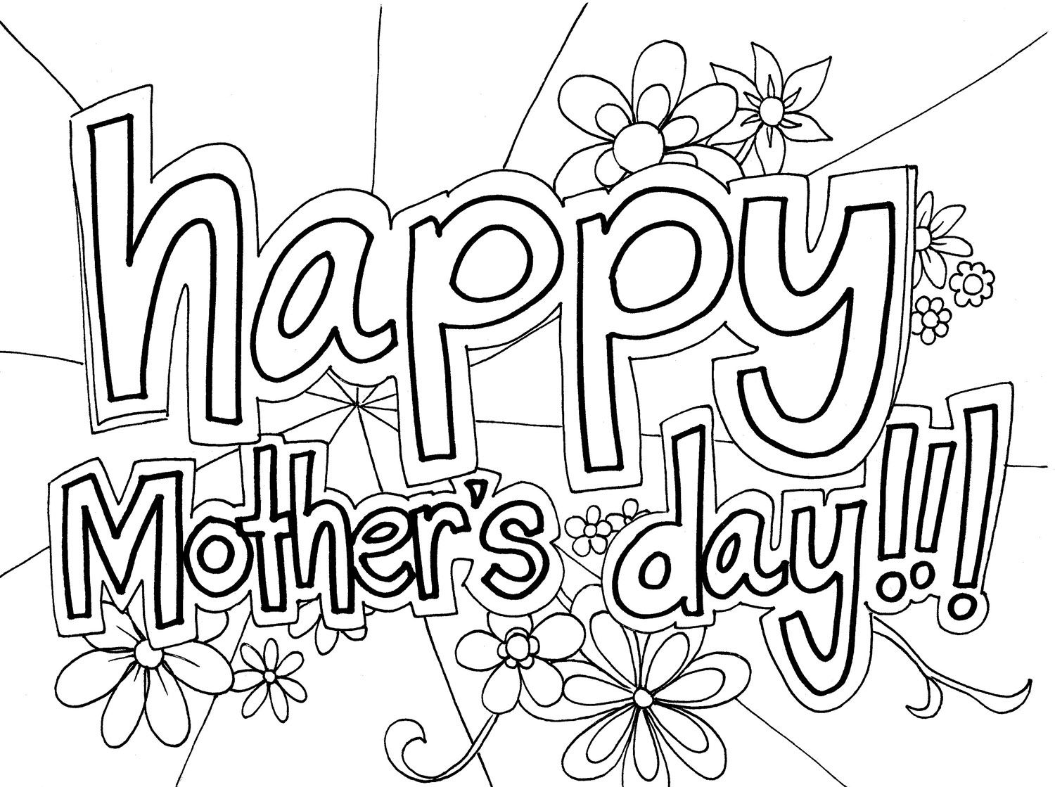 Black and white free clipart mothers day jpg free library Free Mothers Day Clipart Black and White 2019 Download jpg free library