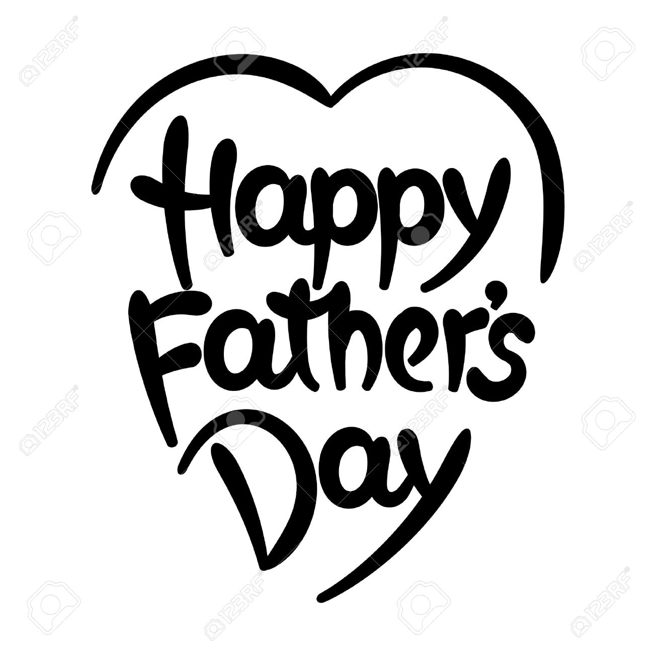 Black and white free clipart religious fathers day