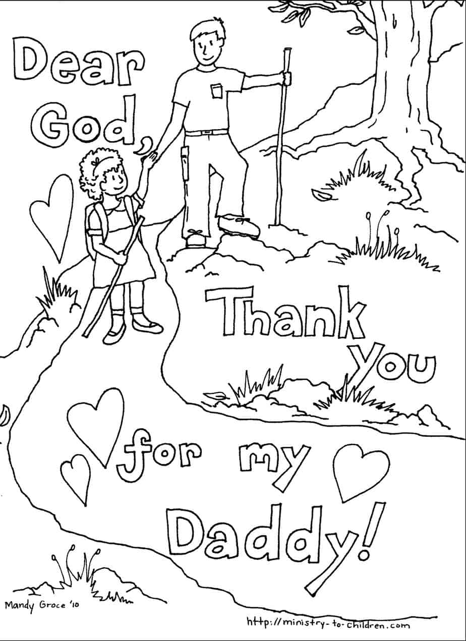 Black and white free clipart religious fathers day image library library Father\'s Day Coloring Pages (100% Free) Easy Print PDF image library library