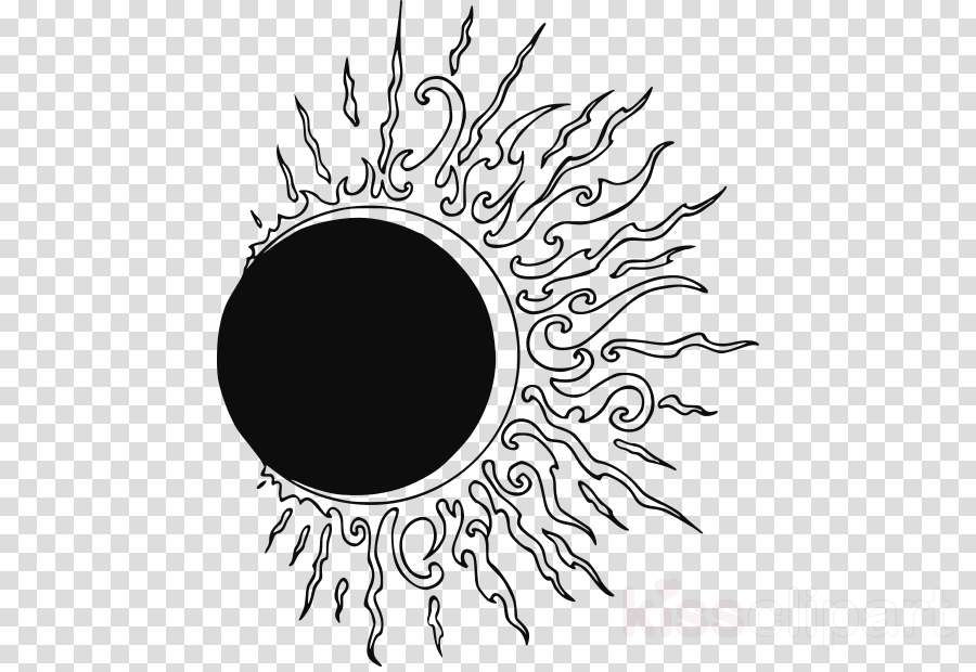 Black and white free clipart solar eclipse 2017 image transparent download Tattoo, Eclipse, Solar Eclipse Of August 21 2017, transparent png ... image transparent download