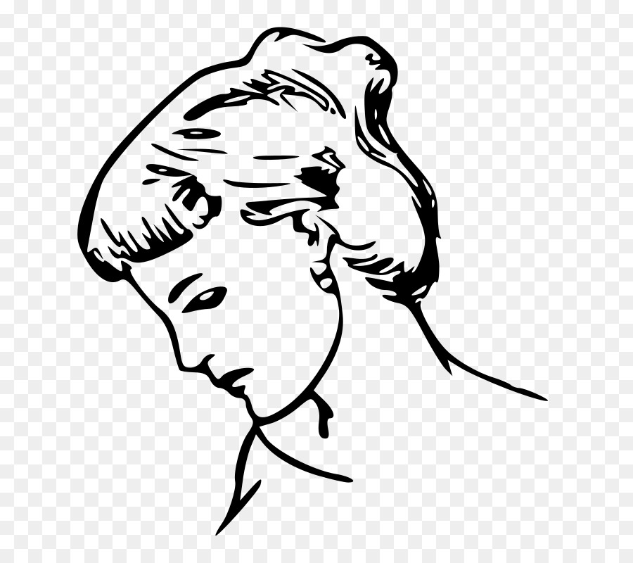 Black and white free clipart women chatting image stock Woman Facetransparent png image & clipart free download image stock