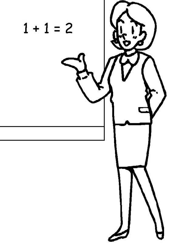 Black and white free lineart clipart for teachers clipart transparent library Free Teacher Line Cliparts, Download Free Clip Art, Free Clip Art on ... clipart transparent library
