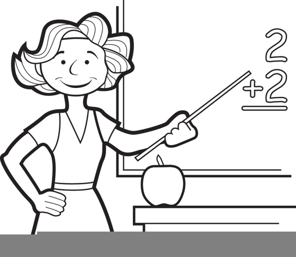 Black and white free lineart clipart for teachers jpg black and white Teacher Clipart Free Black White | Free Images at Clker.com - vector ... jpg black and white