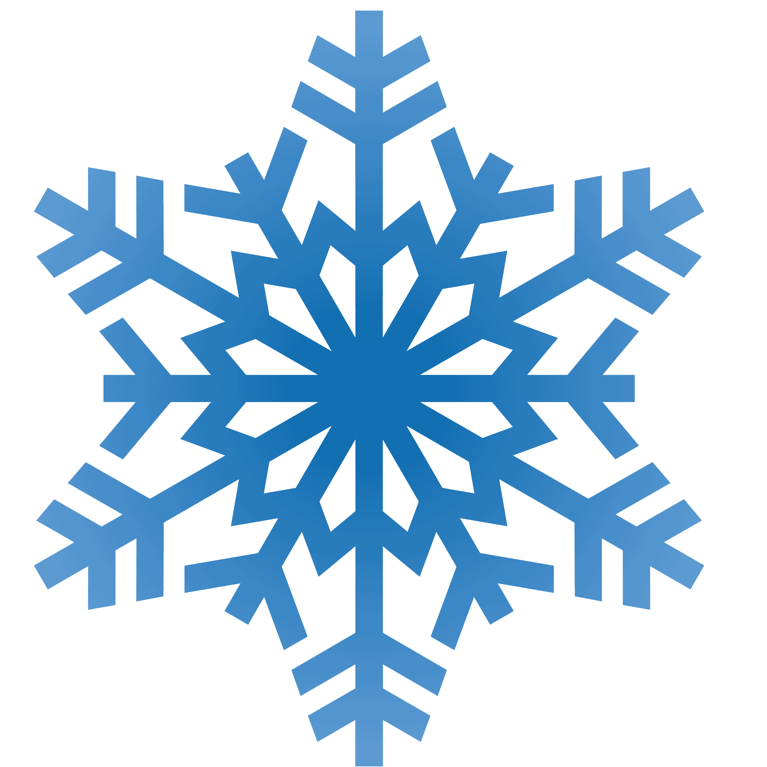 Ice and snowflake clipart