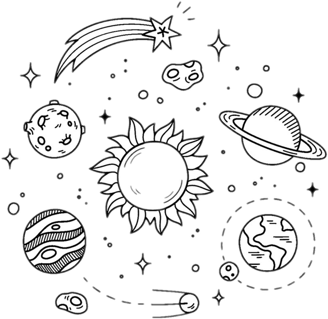 Black and white galaxy clipart vector library download Galaxy Clipart Black And White - Space Drawings , Transparent ... vector library download