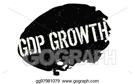 Black and white gdp clipart clip freeuse library Vector Illustration - Gdp growth rubber stamp. EPS Clipart ... clip freeuse library