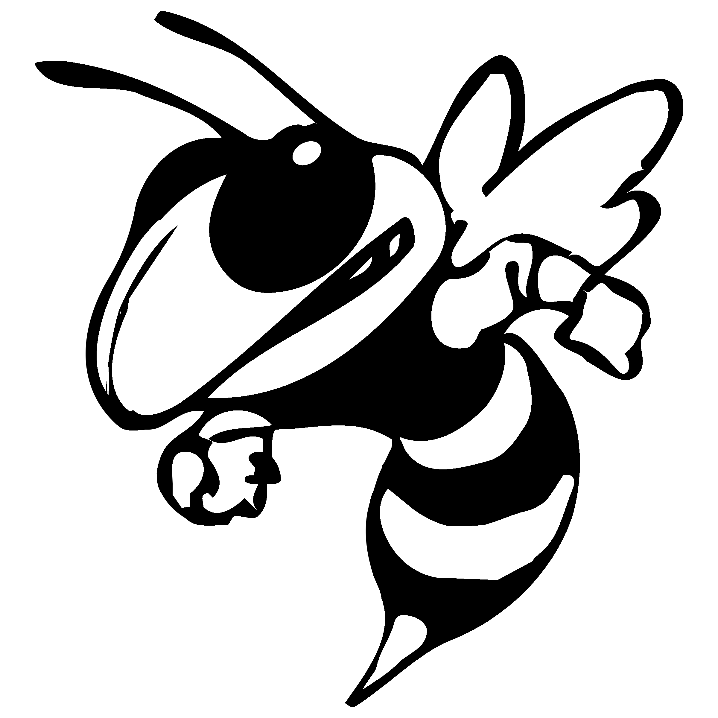 Black and white georgia tech football team clipart clipart transparent download Hornet clipart georgia tech, Hornet georgia tech Transparent FREE ... clipart transparent download