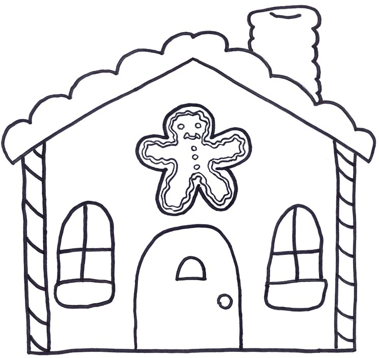 Ginger bread clipart black and white free graphic transparent download Gingerbread house clipart black and white free clip art images ... graphic transparent download
