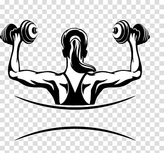 Black and white girl dumb bells clipart with color background clip art transparent stock Woman holding dumbbells illustration, Physical fitness Fitness ... clip art transparent stock