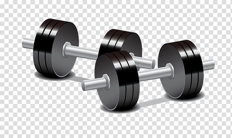 Black and white girl dumb bells clipart with color background banner royalty free download Two gray-and-black dumbbells illustation, Dumbbell Weight training ... banner royalty free download