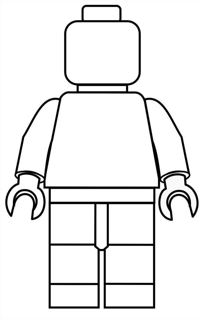 Black and white girl lego clipart svg free Lego Mini Fig Drawing Template | crafts | Lego birthday party, Lego ... svg free