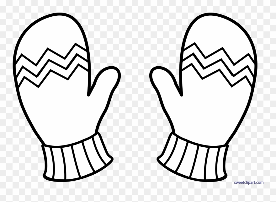 Glove clipart black and white clip art black and white library Mitten Clip Cute - Gloves Clip Art Black And White - Png Download ... clip art black and white library