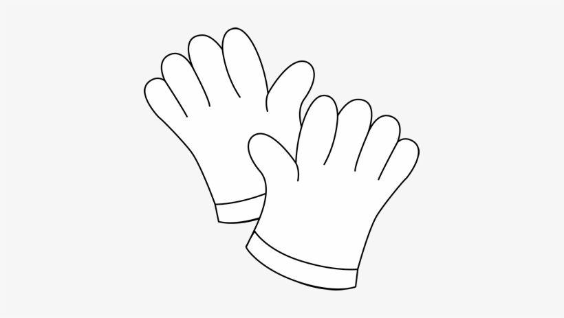 Glove clipart black and white svg download Black And White Gardening Gloves Clip Art - Garden Gloves Clipart ... svg download