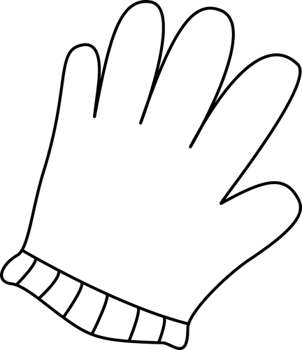 Clipart pictures of glove black and white graphic free stock Black and White Glove Clip Art | Clipart Panda - Free Clipart Images graphic free stock