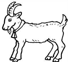 Black and white goat clipart jpg freeuse Free Goat Cliparts, Download Free Clip Art, Free Clip Art on Clipart ... jpg freeuse