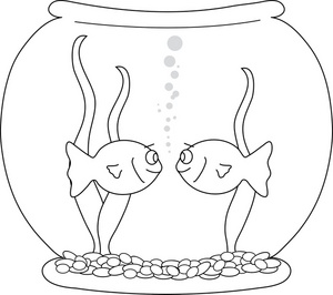 Black and white gold fish bowl clipart graphic royalty free stock Fish bowl fishbowl clipart image goldfish in a - ClipartBarn graphic royalty free stock