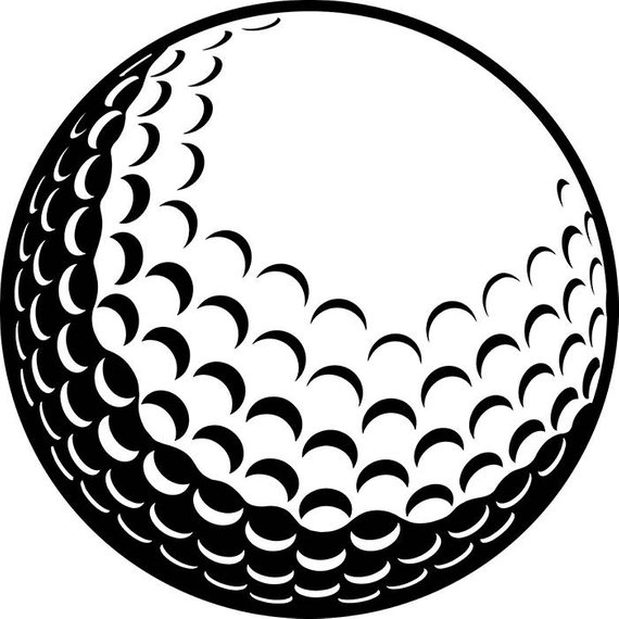 Black and white golf ball clipart images image black and white library Pin by Etsy on Products | Golf ball crafts, Golf ball, Golf clubs image black and white library