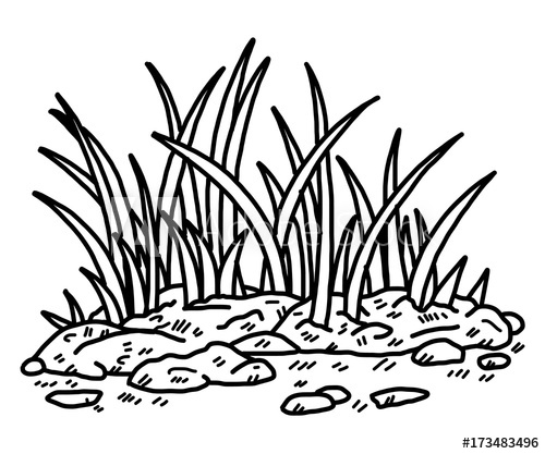 Black and white grass clipart free stock grass / cartoon vector and illustration, black and white, hand drawn ... free stock
