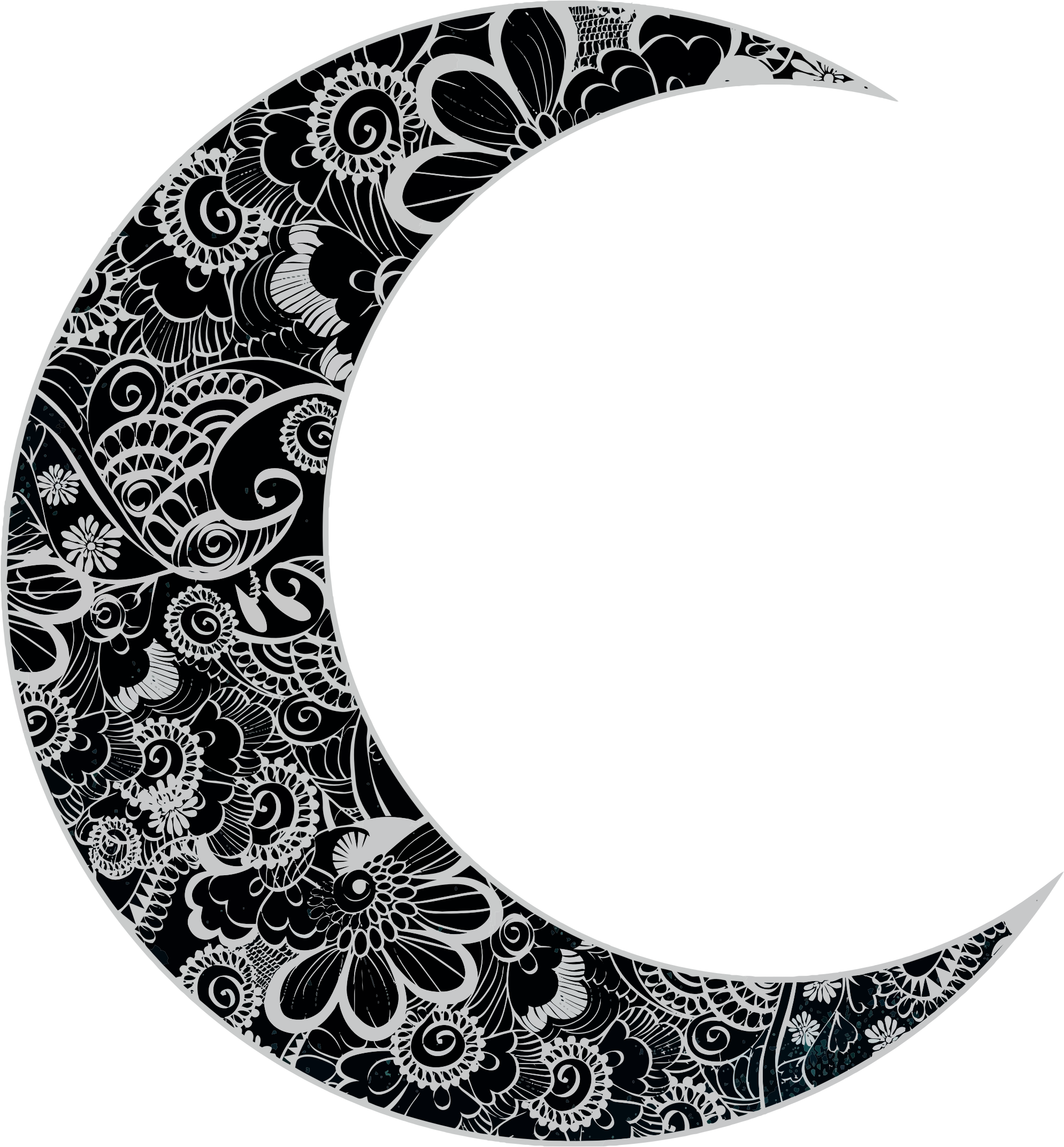 Black and white half moon designs clipart clipart free stock Crescent Moon Clipart Black And White | Free download best Crescent ... clipart free stock
