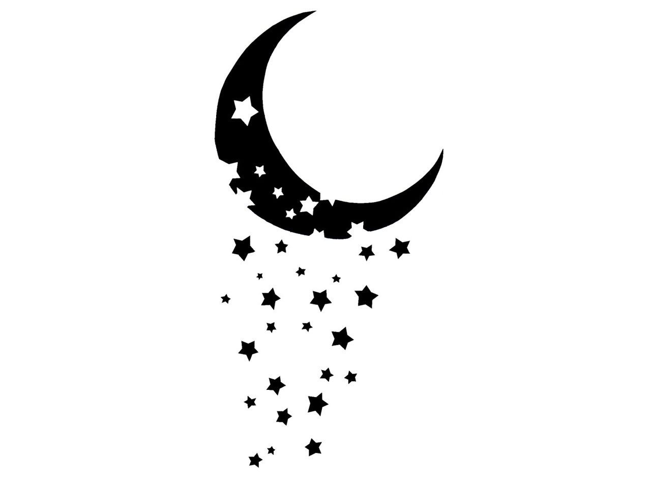 Black and white half moon designs clipart banner black and white library Moon And Stars Tattoos Designs | Cool Tattoos - Bonbaden | tattoos ... banner black and white library
