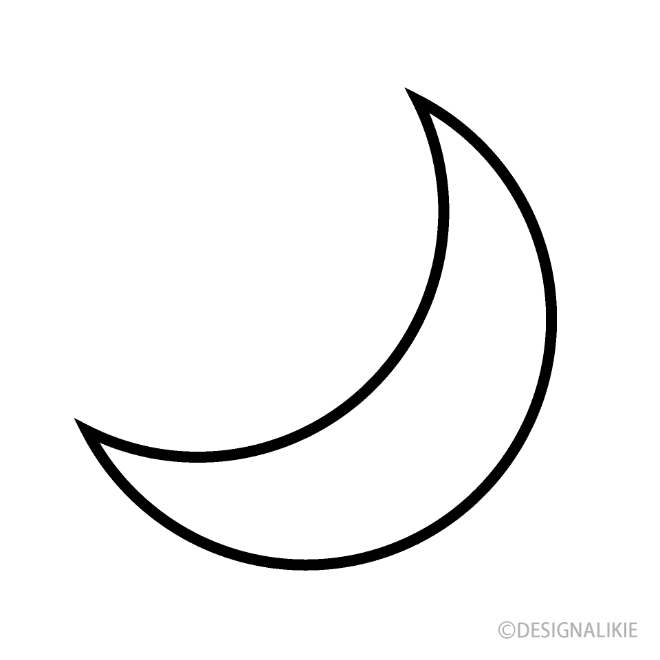 Black and white half moon designs clipart graphic transparent download Black and White Moon Symbol Free Picture|Illustoon graphic transparent download