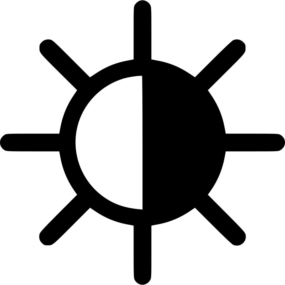 Black and white half sun clipart svg freeuse Half Black Sun Svg Png Icon Free Download (#541463) - OnlineWebFonts.COM svg freeuse