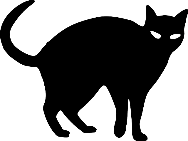 Black and white halloween cat clipart clip library Silhouette Halloween Cat at GetDrawings.com | Free for personal use ... clip library