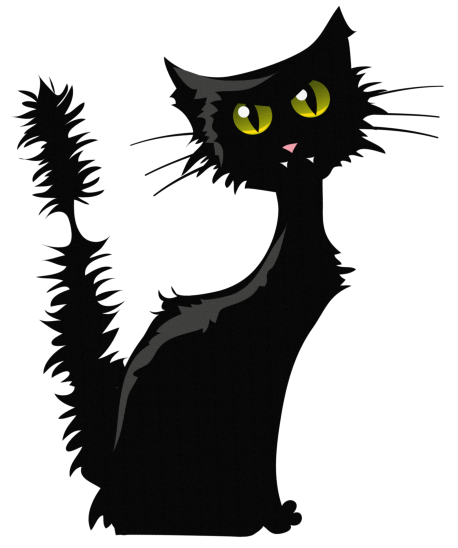 Black and white halloween cat clipart image royalty free library Black Cat PNG Clipart Image | Gallery Yopriceville - High-Quality ... image royalty free library