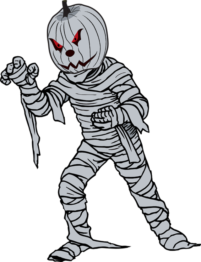 Black and white halloween clipart free clip art free stock Great Clip Art For Halloween: A Jack O'Lantern Mummy | Halloween and ... clip art free stock