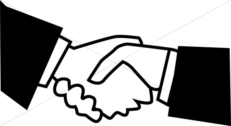 Handshake clipart black and white picture royalty free download Black and White Handshake | Fellowship Clipart picture royalty free download