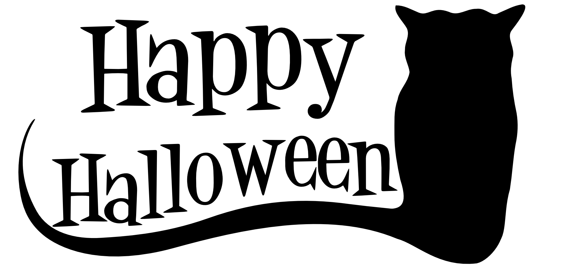 Happy halloween clipart black and white graphic clipartist.net » Clip Art » h Halloween SVG graphic