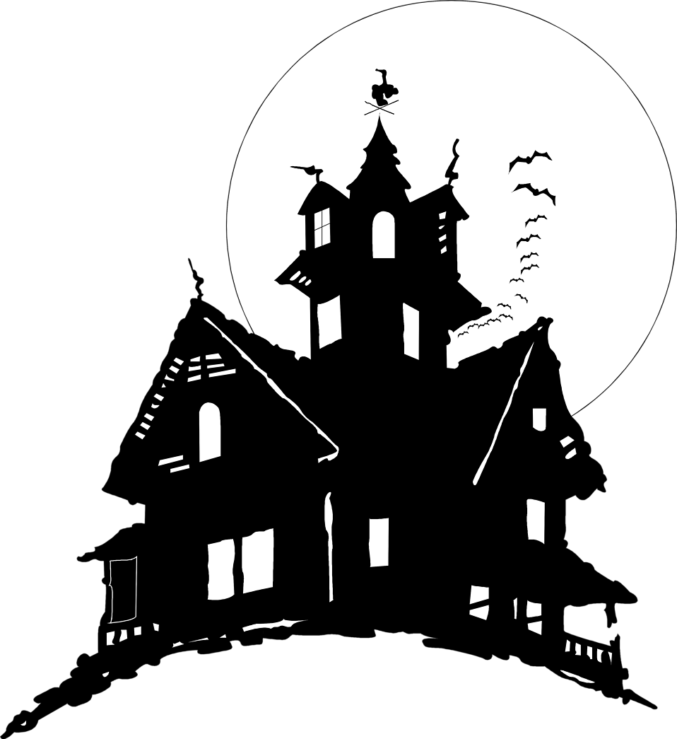 Black and white haunted house clipart banner royalty free Halloween Haunted House Clipart | jokingart.com Haunted House Clipart banner royalty free