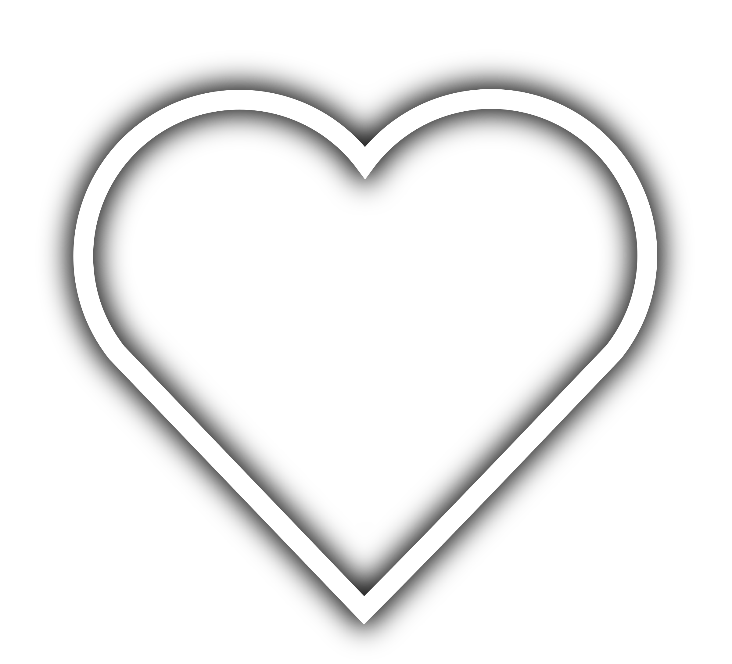 Heart clipart black and white outline jpg library download Love Symbol Clipart Choice Image - meaning of text symbols jpg library download
