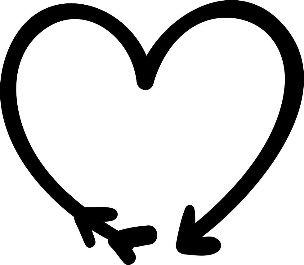 Black and white heart arrow clipart clipart black and white stock Arrow And Heart Doodle Svg Png Icon Free Download (#70236 ... clipart black and white stock