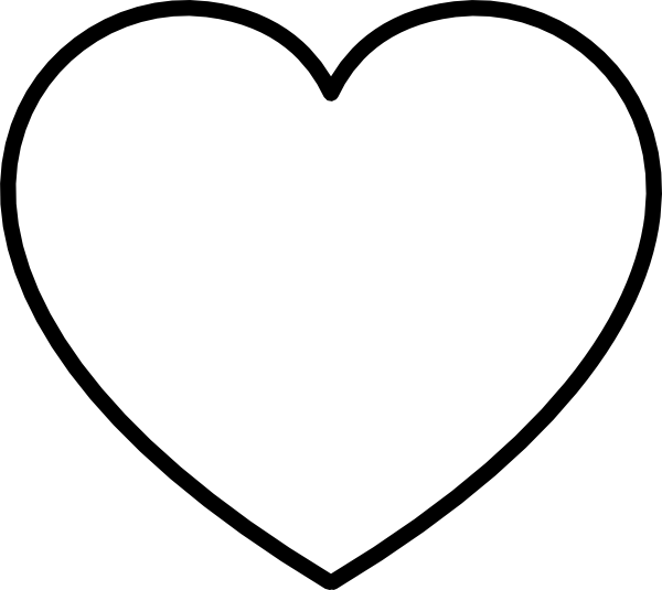 Heart clipart black and white outline svg free stock White Heart With Black Outline Clip Art at Clker.com - vector clip ... svg free stock