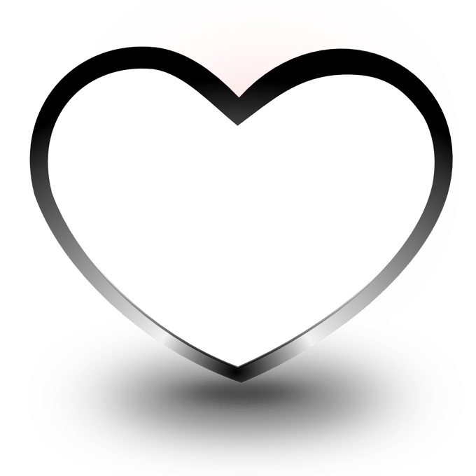 Black and white heart clipart free clip art free download Heart Images Black And White | Siewalls.co clip art free download