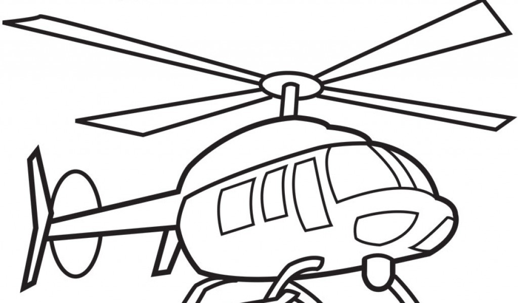 Black and white helicopter clipart