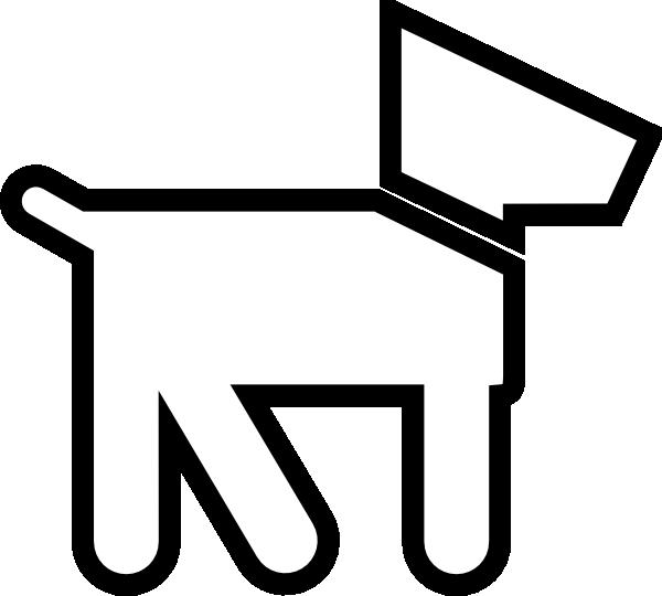 Dog outline clipart svg transparent download Dog Silhouette White Clip Art at Clker.com - vector clip art online ... svg transparent download