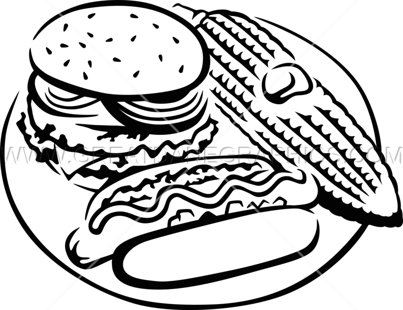 Hot dog clipart black and white png free library Hot Dog Drawing at GetDrawings.com | Free for personal use Hot Dog ... png free library