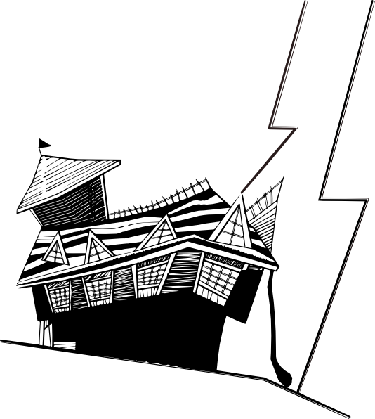Black and white house on a hill clipart clipart download Crooked House Clip Art at Clker.com - vector clip art online ... clipart download