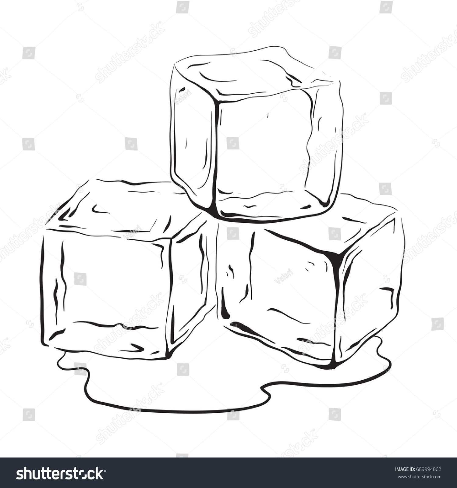 Frozen ice cube black and white clipart clip freeuse library Ice PNG Black And White Transparent Ice Black And White.PNG Images ... clip freeuse library