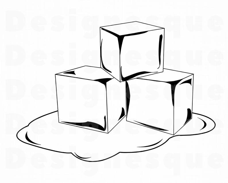 Black and white ice cube clipart png download Melting Ice Cube Drawing | Free download best Melting Ice Cube ... png download