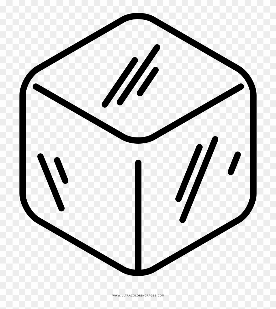 Black and white ice cube clipart picture library Ice Cube Coloring Page Clipart (#2839168) - PinClipart picture library