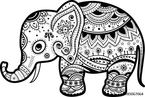 Black and white indian painted elephant clipart clip art black and white download Indian Elephant Drawing at PaintingValley.com | Explore collection ... clip art black and white download