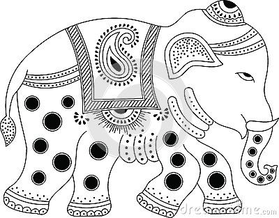 Black and white indian painted elephant clipart clipart download indian elephant clipart - Google Search | Peacocks | Indian elephant ... clipart download