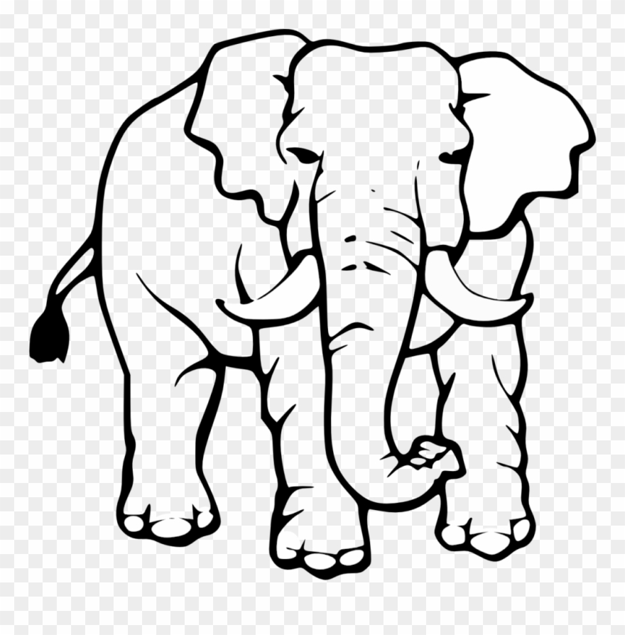 Black and white indian painted elephant clipart clipart library download Elephant Clipart Black And White - Elefante Africano Para Colorear ... clipart library download