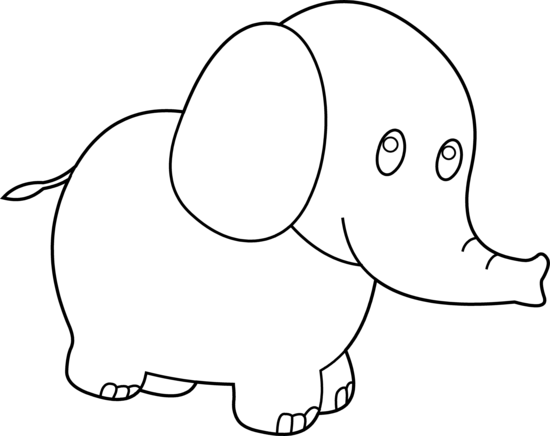 White elephant clipart free banner royalty free Cute Elephant Clipart Black And White | Clipart Panda - Free ... banner royalty free