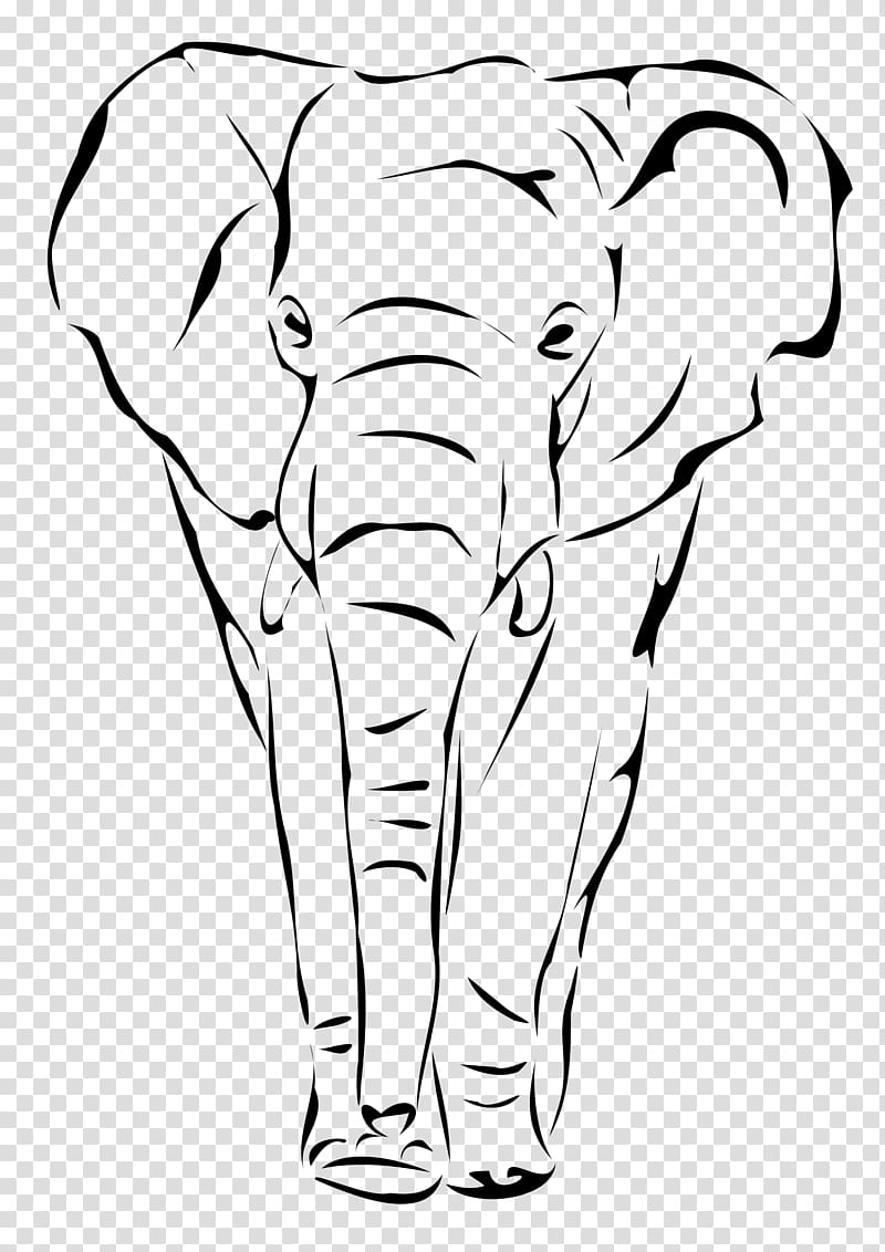 Black and white indian painted elephant clipart png freeuse Indian elephant Drawing Face , elephant drawing transparent ... png freeuse